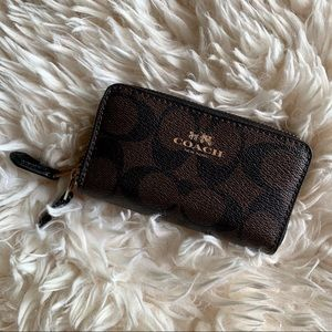 Coach Double Zip Around Wallet